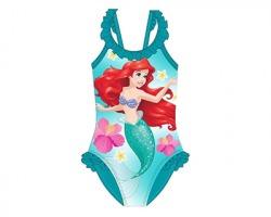 Disney Principesse- La sirenetta costume da bagno intero, 128/ 134cm - 1pz