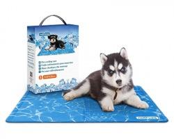 Nobleza Tappetino refrigerante in gel per cani e gatti, misura 50x40cm, non tossico, colore azzurro fantasia acqua