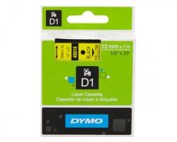 Dymo S0720580 Nastro poliestere D1 nero su giallo 12mm. x 7mt.