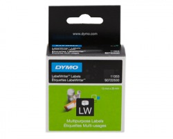 Dymo S0722530 - 1000 Etichette per labelwriter 24mm x 12mm BK/WH 1pz