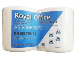 Bobina puliunto Royal Office in pura cellulosa a 2 veli, 400 strappi cad. - confezione 2pz